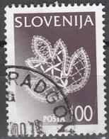 Slovenija 1997 Michel 202 O Cote (2006) 1.30 Euro Dentelle De Idria Cachet Rond - Slovénie
