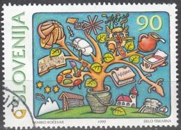 Slovenija 1999 Michel 271 O Cote (2006) 1.00 Euro Tournant Du Millénaire Croissance Cachet Rond - Slovénie