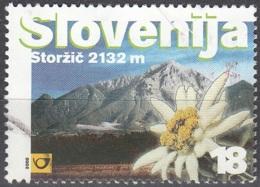 Slovenija 2000 Michel 287 O Cote (2006) 0.50 Euro Montagne Storzic Et Edelweiss Cachet Rond - Slovénie