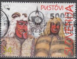 Slovenija 2000 Michel 282 O Cote (2006) 0.40 Euro Masques De Slovénie Cachet Rond - Slovénie