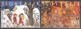 Slovenija 1998 Michel 240 - 241 O Cote (2006) 1.50 Euro Scènes De Noël Cachet Rond - Slovénie
