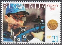Slovenija 2000 Michel 326 O Cote (2006) 0.50 Euro Jeux Olympiques à Sydney Tir Sportif Cachet Rond - Slovénie