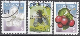 Slovenija 2000 Michel 313 - 315 O Cote (2006) 0.50 Euro Cerisier Des Oiseaux Cachet Rond - Slovénie