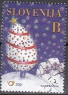 Slovenija 2001 Michel 373 O Cote (2006) 0.30 Euro Arbre De Noël Cachet Rond - Slovénie