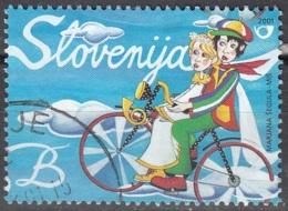 Slovenija 2001 Michel 337 O Cote (2006) 0.50 Euro Couple Avec Vélo Cachet Rond - Slovénie