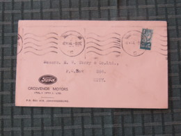South Africa 1944 Cover Johannesburg To Johannesburg - Soldiers Infantry - Ford Car Logo - Briefe U. Dokumente