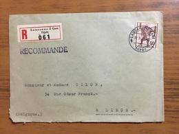 Lettre Recommandée De Lausanne Vers Liège Avec YT 359 - Lettres & Documents