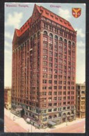 CHICAGO Ill. Masonic Temple Sent 1911 From Chicago To Belgium. Stamps With Guide Lines - Chicago
