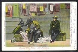 SAN FRANCISCO 1907 Chinese Shoe Maker. Sent To Belgium. - San Francisco