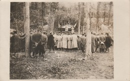 Carte Photo : Fontaine Lès Cappy - Somme : Messe Militaire Dans Un Bois Avec Soldats Du 43é Colonial 123é 119é - Weltkrieg 1914-18