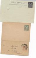 CZ-240: FRANCE: Lot Carte Postale Expo 1900 + 2 Entiers Au Type Sage - 1898-1900 Sage (Type III)