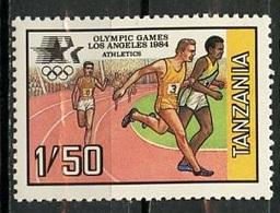 Tanzanie - Tansania - Tanzania 1984 Y&T N°240 - Michel N°243 *** - 1,50s JO De Los Angeles - Blokken & Velletjes