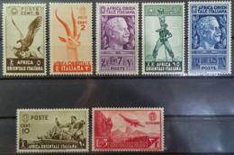 ITALIAN EASTERN AFRICA 1938 - MLH - Sc# 1, 2, 3, 4, 5, 13, C8 - Africa Orientale Italiana