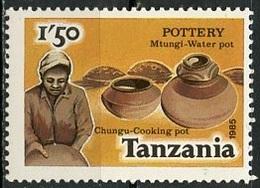 Tanzanie - Tansania - Tanzania 1985 Y&T N°266E - Michel N°276 *** - 1,50s JO De Los Angeles - Blokken & Velletjes