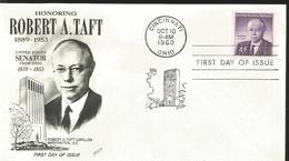 J) 1960 UNITED STATES, MASONIC GRAND LODGE, HONORING ROBERT A TAFT 1889-1953, USA SENATOR FROM OHIO, ROBERT A TAFT CARIL - Vereinigte Staaten