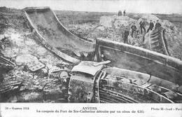 Antwerpen Anvers Carte Sépia Guerre 1914 - Antwerpen