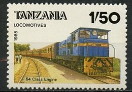 Tanzanie - Tansania - Tanzania 1985 Y&T N°266J - Michel N°281 *** - 1,50s Locomotive Classe 64 - Blokken & Velletjes