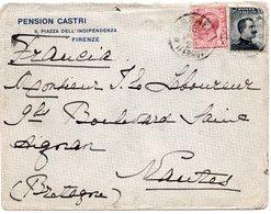 LAC 1923 - Entête PENSION CASTRI à FIRENZE - 1900-44 Vittorio Emanuele III