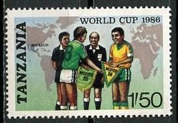 Tanzanie - Tansania - Tanzania 1986 Y&T N°297 - Michel N°342 Nsg - 1,50s Coupe Du Monde De Fooftball - Blokken & Velletjes