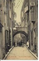 1909 - Vue De La Rue Longue, Menton, France, Timbre Manquant (D9) - Menton