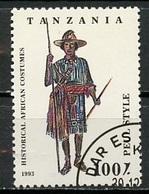 Tanzanie - Tansania - Tanzania 1993 Y&T N°1453 - Michel N°1689 (o) - 100s Costume Peul - Blokken & Velletjes