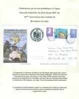 Bir-Hakeim En Libye. Régiment D'Infanterie De Marine Du Pacifique. 2ième Guerre. FRAIS De POSTE (6984) - Cartas