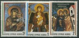 Zypern 1992 Weihnachten: Fresken 799/801 Postfrisch - Zypern (Republik)