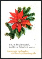 C7290 - Glückwunschkarte - Spruchkarte - Verlag Schäfer DDR - Noël