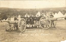 23 - Militaria Camp De La COURTINE  Manoeuvres   CANONS DE 75  ( Att Coin D Gau Bas)  247 - La Courtine