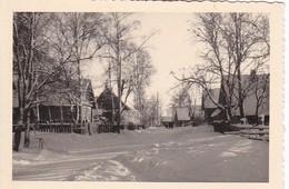 Foto Dorf Im Winter - Holzhäuser - Russland - Ca. 1940 - 9*6cm (43010) - Orte