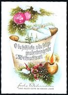 C7296 - TOP Glückwunschkarte Weihnachten - Künstlerkarte - Noël