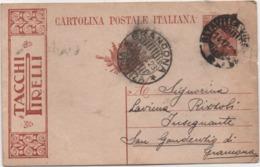 Cartolina Postale Michetti Cent. 30 Tacchi Pirelli Viaggiata Con Annullo Grancona (Vicenza) 15.12.1923 - Interi Postali
