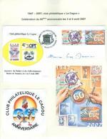 Cagou; Club Philatélique Le Cagou; 60 Ans En 2007. Feuillet + Pli Premier Jour. FRAIS De POSTE (6985) - Cartas