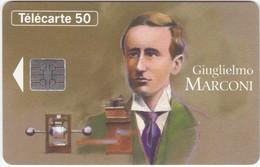 TC042 TELECARTE 50 - COLLECTION LES GRANDES FIGURES DES TELECOMMUNICATIONS - GIUGLIELMO MARCONI N°7 - Télécartes