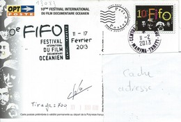 13083  10é Festival Du FILM OCÉANIEN - TAHITI - POLYNÉSIE FRANÇAISE - Lettres & Documents