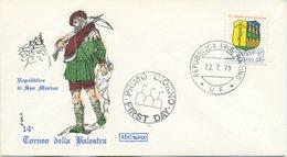 SAN MARINO - FDC ROMA 1979 - TORNEO DELLA BALESTRA - FDC