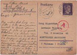 Cartolina Postale Hitler M. 6 Viaggiato Con Annullo Esch An Der Alzig (Lussemburgo) 26.06.1944 - Storia Postale