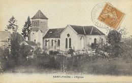 77 SAINT FIACRE L'église CPA  écrite Vers 1920 - Francia