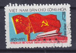 Vietnam 1971 Mi. 681    12 Xu Kommunistische Partei Chinas Flag Flagge - Vietnam