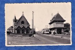 CPSM - WESTENDE - Chapelle Et Station De Tram - Tramway - Ern Thill , Bruxelles , N° 27 - Nels - Westende