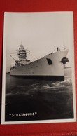"""Ancienne Carte-photo D'un Navire De Guerre """" STRASBOURG """" - Bateaux"""