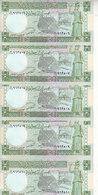 SYRIA 5 LIRA POUNDS 1991 P-100 LOT X5 UNC NOTES   */* - Siria