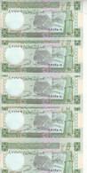 SYRIA 5 LIRA POUNDS 1991 P-100 LOT X5 UNC NOTES   */* - Syria