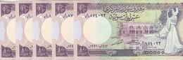 SYRIA 10 LIRA 1991 P-101 Lot X5 UNC Notes  */* - Syrië
