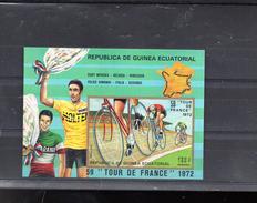 GUINEE EQUATORIALE MICHEL BLOC 73 **SUR EDDY MERCKX POUR LE TOUR DE FRANCE 1972 - Äquatorial-Guinea