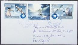 Guine-Bissau - Cover To Portugal Marine Life Bird Owl Polar Year Antarctic - Eulenvögel