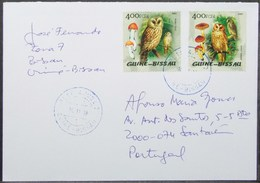 Guine-Bissau - Cover To Portugal Bird Owl Mushroom - Hiboux & Chouettes