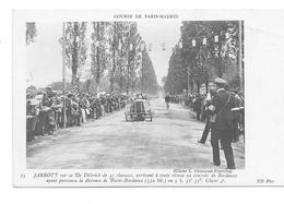 COURSE PARIS-MADRID JARROTT SUR DE DIETRICH CONTRÔLE DE BORDEAUX N° 15 Sport Automobile - Sport Automobile