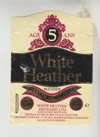 3 ETIQUETTES OENOPHILIE PUBLICITE VIN ALCOOL - Whisky WHITE HEATHER, WILLIAM LAWSON'S, Apéritif VIN LORRAIN - Whisky