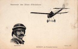 Souvenir Des Fêtes D'Aviations - BATHIAT, Sur Monoplan Sommer - - France